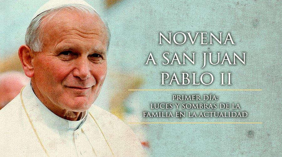 Novena a San Juan Pablo II, por la Familia.