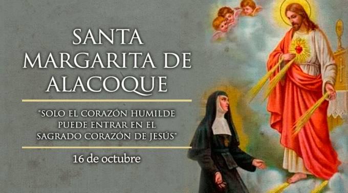 Hoy celebramos a Santa Margarita María de Alacoque