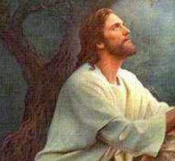 Jesús ora en el huerto