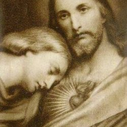 San Juan recuesta su cabeza en el Corazón de jesús