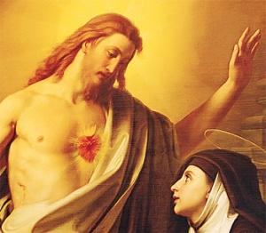 Corazón de Jesús y Santa Margarita