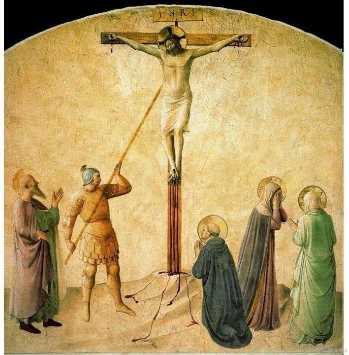 Cristo es traspasado por la lanza de longinos