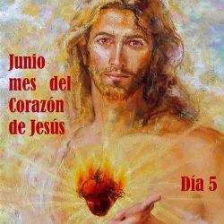 IMAGEN DEL CORAZÓN DE JESÚS, PARA EL DÍA 5 DEL MES DE JUNIO
