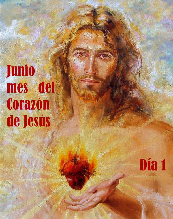Corazón de Jesús, imagen para el día 1 del mes de junio